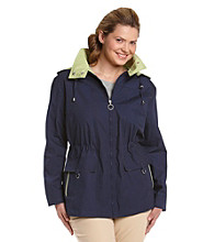 Mackintosh Plus Size Poplin Anorak Coat