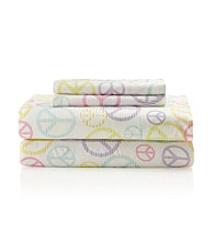 LivingQuarters Kids Easy Care Peace Microfiber Sheet Sets