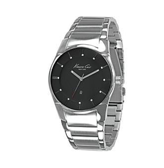 Kenneth Cole New York® Men's Silvertone Round Slim Case Bracelet Watch