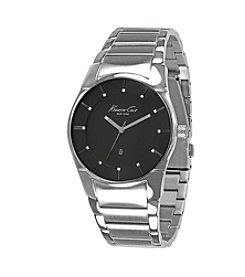 Kenneth Cole New York® Men's Silvertone Round Slim Case Bracelet Watch