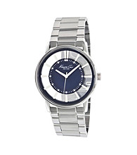 Kenneth Cole New York® Men's Transparent Blue Dial Watch