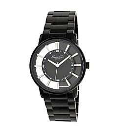 Kenneth Cole New York® Men's Transparent Black Dial Watch