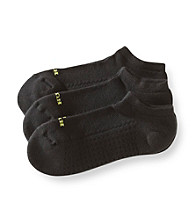 HUE® 3-pk. Air No Show Socks - Black