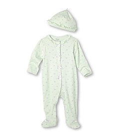 Little Me® Baby Girls' Mint Petite Rose Footie and Hat