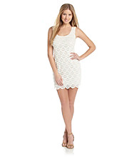 Guess Scoopneck Scallop Lace Dress