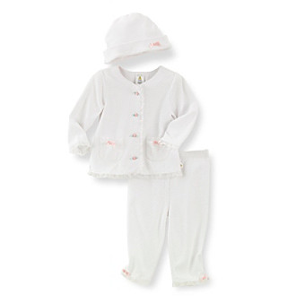 Cuddle Bear® Baby Girls' Dot Print 3-pc. Take Me Home Set