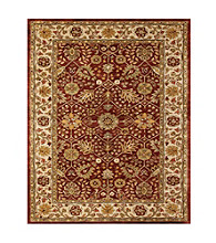 Abbey Collection Cranberry/Ivory Rug