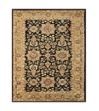 Abbey Collection Black and Gold Rug
