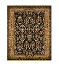 Alegra Collection Black/Gold Rug
