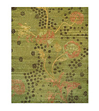 Aven Collection Green Rug