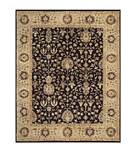 Dover Collection Black/Beige Rug