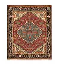Ihrin Collection Red/Black Rug