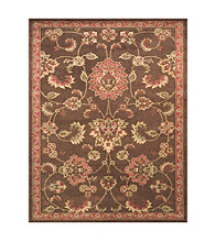Valencia Collection Brown Rug