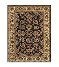 Wakefield Collection Black/Gold Rug