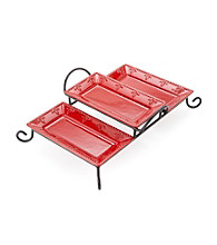 Sorrento Ruby 3-Section Tray with Caddy