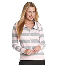 Calvin Klein Performance Striped Funnelneck Jacket