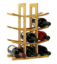 Oceanstar 12-Bottle Natural Bamboo Wine Rack