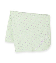 Little Me® Baby Girls' Mint Green Petite Rose Blanket