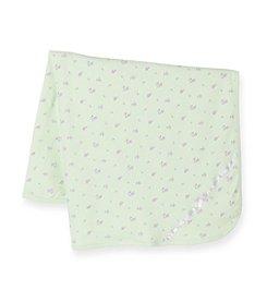 Little Me® Baby Girls' Mint Green Petite Rose Blanket
