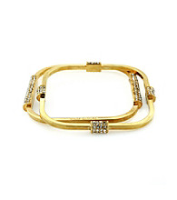 Vince Camuto™ Goldtone Rectangular Bangle Bracelet Set