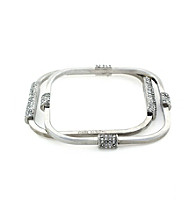 Vince Camuto™ Silvertone Rectangular Bangle Bracelet Set