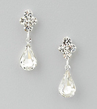 BT-Jeweled Pear-Shape Drop Earrings