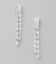 BT-Jeweled Double Strand Earrings
