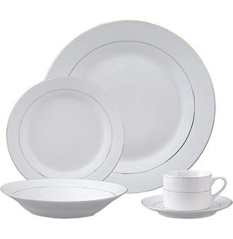 Gibson Everyday® Tuxedo Gold 20-pc. Dinnerware Set