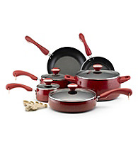Paula Deen® Signature Porcelain Enamel Nonstick 15-pc. Red Speckle Cookware Set