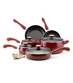 Paula Deen® Signature 15-pc. Red Speckle Porcelain Enamel Nonstick Cookware Set