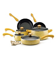 Paula Deen® Signature Porcelain Enamel Nonstick 15-pc. Butter Speckle Cookware Set