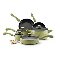 Paula Deen® Signature Porcelain Enamel Nonstick 15-pc. Pear Speckle Cookware Set