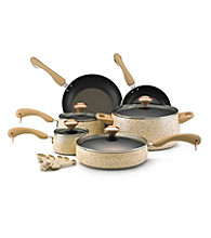 Paula Deen® Signature Porcelain Enamel Nonstick 15-pc. Oatmeal Speckle Cookware Set