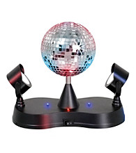 Lumisource® Multi Colored Disco Ball with 2 Mirrors
