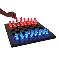 Lumisource® Blue and Red LED Glow Chess Set
