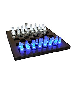 Lumisource® Blue and White LED Glow Chess Set