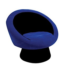 Lumisource® Black/Blue Saucer Chair