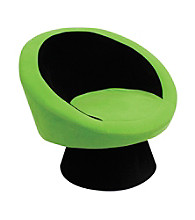 Lumisource® Black/Green Saucer Chair