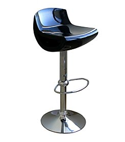 Baxton Studios Cornelius Low-Back Adjustable Swivel Bar Stool