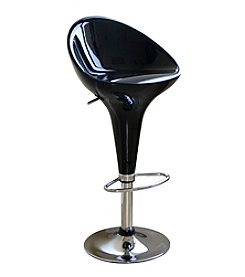 Baxton Studios Lucilius Mid-Back Adjustable Swivel Bar Stool