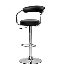 Baxton Studios Leontes Adjustable Swivel Bar Stool