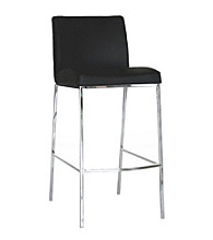 Baxton Studios Eglamour Black Mid-Back Bar Stool