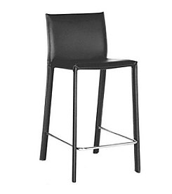 Baxton Studios Ferdinand Black Low-Back Counter Stool