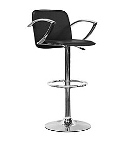 Baxton Studios Lava Black Adjustable Bar Stool