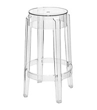 Baxton Studios Clear Counter Stool