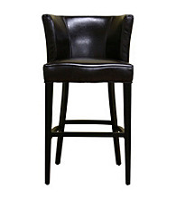Baxton Studios Marge Dark Brown Bar Stool