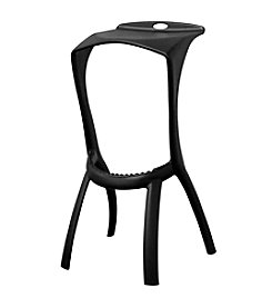 Baxton Studios Zinley Black Molded Plastic Bar Stool
