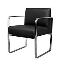 Baxton Studios Meg Black Chair