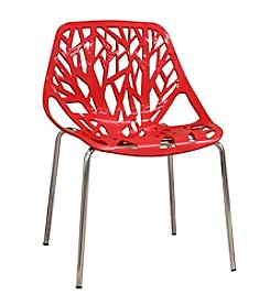 Baxton Studios Birch Sapling Plastic Modern Dining Chair