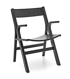 Baxton Studios Nes Black Modern Arm Chair